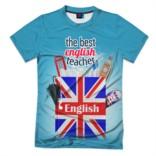 Мужская футболка 3D Лучший учитель английского языка