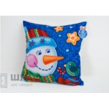 Новогодняя подушка Снеговик