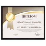 Именной диплом «Лучший руководитель»