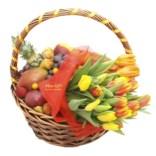 Фруктовая корзина с цветами Женское счастье