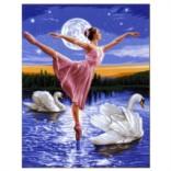 Картина-раскраска по номерам на холсте Грация