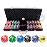 Набор для покера NUTS Black на 500 фишек Premium