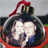 Елочный шарик с фото Любимым