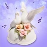 Статуэтка музыкальная Любовь и голуби