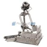 Статуэтка из металла Каменщик-строитель