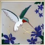 Картина с кристаллами Swarovski Колибри